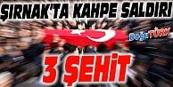 ŞIRNAK'TA KAHPE PUSU: 3 ŞEHİT VAR!