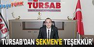 TÜRSAB'DAN BAŞKAN SEKMEN'E WİNTERFEST TEŞEKKÜRÜ