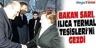 BAKAN FATMA GÜLDEMET SARI, ILICA TERMAL TESİSLERİ'Nİ GEZDİ
