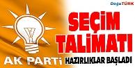 AK PARTİ'DEN SEÇİM TALİMATI!