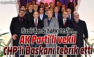 AK PARTİLİ VEKİLDEN CHP'Lİ BAŞKANA ZİYARET