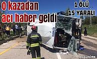 Erzurum'da özel halk otobüsü devrildi: 1 ölü, 15 yaralı