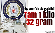 Erzurum'da 1 kilo 32 gram esrar ele geçirildi