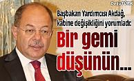 Başbakan Yardımcısı Akdağ, kabine değişikliğini yorumladı