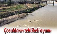 Erzurum'da çocukların tehlikeli oyunu