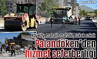 Palandöken Belediyesinin asfalt ve kilit parke çalışması devam ediyor