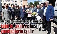 Başbakan Yardımcısı Akdağ ve Bakan Eroğlu, Erzurum'da
