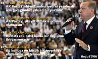 Cumhurbaşkanı Erdoğan: AK Parti'de çok daha köklü bir değişime ihtiyacımız var