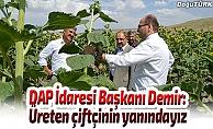 DAP İdare Başkanı Demir: Üreten çiftçinin yanındayız