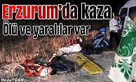 Erzurum'da trafik kazası: 1 polis şehit, 13 yaralı