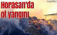 Horasan'da 15 bin balya ot yanarak kül oldu