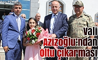 Vali Azizoğlu, Oltu'da incelemelerde bulundu