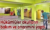 Hükümlüler okulların bakım ve onarımını yaptı
