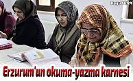 İşte Erzurum'un okuma-yazma karnesi