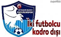 Büyükşehir Belediye Erzurumspor'da 2 futbolcu kadro dışı