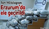Erzurum'da 190 kilogram esrar ele geçirildi