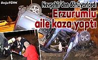 Erzurumlu aile kaza geçirdi: 4 yaralı