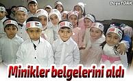 Kur'an kursu öğrencileri belgelerini aldı