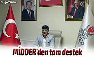 MİDDER'den Zeytin Dalı Harekatı'na destek