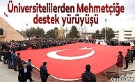Üniversitelilerden Mehmetçiğe destek yürüyüşü