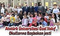 Atatürk Üniversitesi Özel Vakıf Okullarına Başbakan jesti
