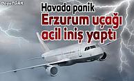 Erzurum uçağı, Trabzon'a acil iniş yaptı