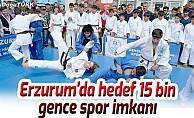 Erzurum'da hedef 15 bin gence spor imkanı