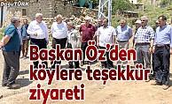 İl Başkanı Öz'den köylere teşekkür ziyareti