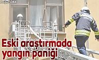 Erzurum'da eski hastane binasında yangın