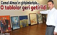Erzurum'dan Başkente giden tarihi tablolar yuvaya döndü