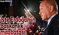 İşte Erdoğan'ın Başkanlık mazbatası!