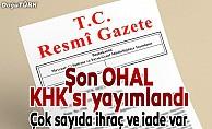 Son OHAL KHK'sı yayımlandı