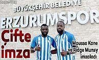 Büyükşehir Belediye Erzurumspor'da çifte imza