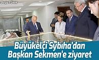 Büyükelçi Sybıha'dan Başkan Sekmen'e ziyaret