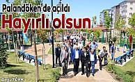 Palandöken Belediyesi Millet Bahçesi'ni hizmete açtı