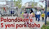 Palandöken'de yeni parklar hizmete açıldı