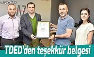 Türkçe isimli işletmelere teşekkür belgesi