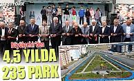 Büyükşehir 4.5 yılda 235 park yaptı