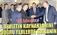 Vali Azizoğlu: Devletin kaynaklarını doğru yerlerde kullanın