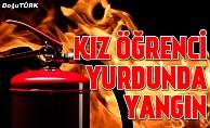 Erzurum'da kız öğrenci yurdunda yangın