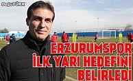 Erzurumspor'da ilk yarı hedefi belirlendi