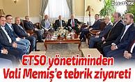 ETSO yönetiminden Vali Memiş'e tebrik ziyareti