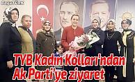TYB Erzurum Şubesi Kadın Kolları'ndan Ak Parti'ye ziyaret