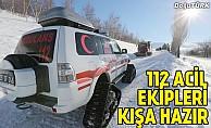 112 acil ekipleri kışa hazır