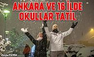 Ankara ve 16 ilde eğitime kar tatili