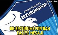 BB Erzurumspor'dan taziye mesajı