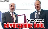 """Büyükşehir'e """"En iyi çevre ve altyapı yatırım ödülü"""""""