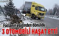 Erzurum'da tır dehşeti