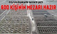 Erzurum'da 600 kişilik mezar yeri açıldı