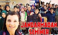 Köprüköy jandarma trafik timleri öğrencilere seminer verdi